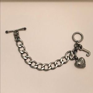 Juicy Couture Toggle Clasp Charm Bracelet